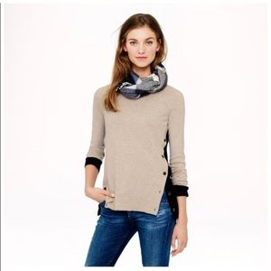 J.Crew Color Block Patch Elbows Sweater Nude/Black
